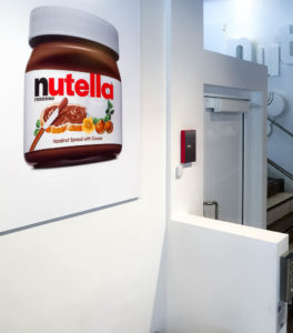 Genesis Shaftway installation at the Nutella Café in Chicago, USA