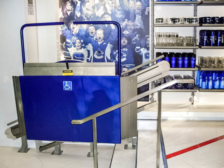 Xpress II installation in Canucks Store in Vancouver, Canada