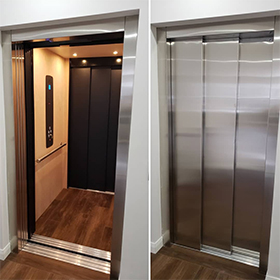 Elvoron Home Elevator installation in residence in Calgary, Canada