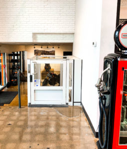 Genesis Enclosure installation in the Harley Davidson dealership in Mississauga, Ontario, Canada