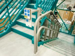 Artira installation on stairwaysa, control panel