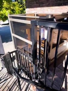 Outdoor Genesis Enclosure at restaurant