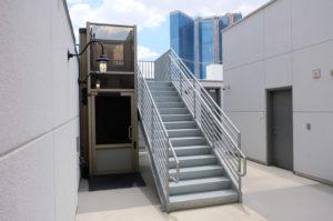 Outdoor Genesis Enclosure next to stairway in Las Vegas